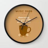 coasters Wall Clocks featuring Coffee Coasters — Music Snob Tip #184 by Elizabeth Owens