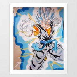 The power of a super warrior Art Print