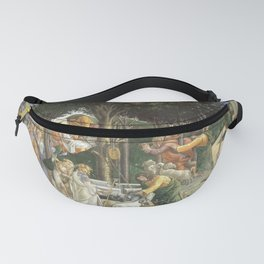 Trials of Moses Painting by Botticelli - Sistine Chapel Fanny Pack