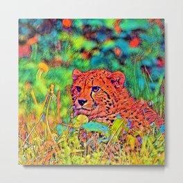 AnimalColor Cheetah 011 Metal Print