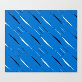 Blue, Black & White #2 Canvas Print