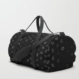 pisces zodiac sign pattern bw Duffle Bag