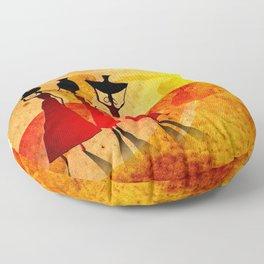 Africa retro vintage style design illustration Floor Pillow