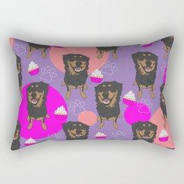 Rottweiler Mix Cupcake Pattern  Rectangular Pillow