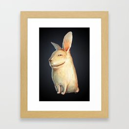 smile rabbit Framed Art Print
