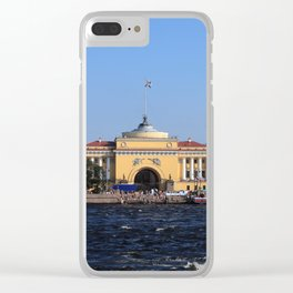 Facade Admiralty building Clear iPhone Case
