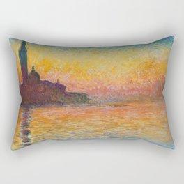 Claude Monet San Giorgio Maggiore at Dusk (Venice) Rectangular Pillow