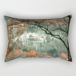 Virginian Log Cabin Rectangular Pillow