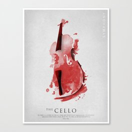 Symphony Series: The Cello Canvas Print