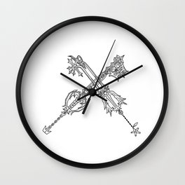 Video Game Weapon Illustration Wall Clock