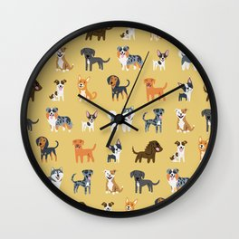 AMERICAN DOGS Wall Clock