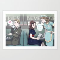 agent carter Art Prints featuring Agent Carter by enerjax