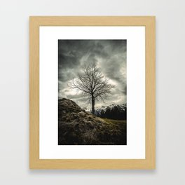 Against the Wind Framed Art Print