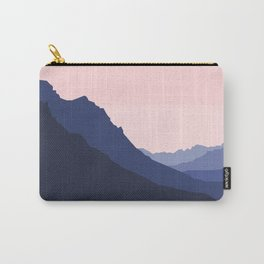 Mountain Skyline in Pink Carry-All Pouch