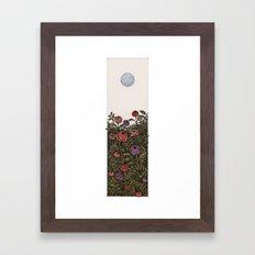 Chase the moon Framed Art Print