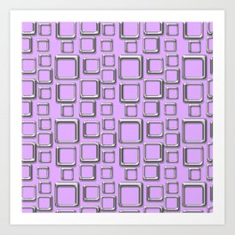 Silver Squares On Violet Art Print