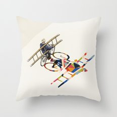 Walking Shadow, Bicyclist Throw Pillow