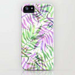 Watercolour Palm Print iPhone Case