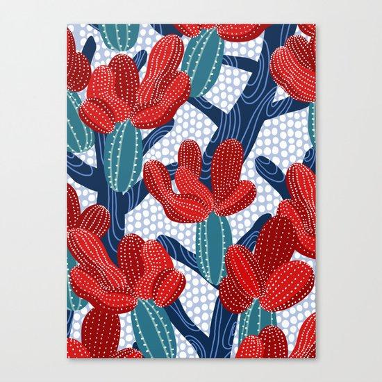 Winter Cactus Canvas Print