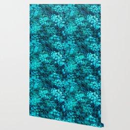 Blue-Green Compound Flower Wallpaper