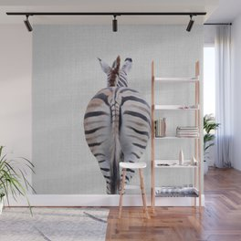 Zebra Tail - Colorful Wall Mural