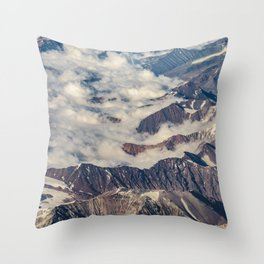 Andes Mountains Aerial View, Chile Throw Pillow