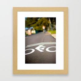 Governors Island Bike Lane Framed Art Print