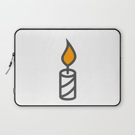 Candle in Design Fashion Modern Style Illustration Laptop Sleeve