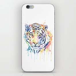 Tiger - Rainbow Tiger - Colorful Watercolor Painting iPhone Skin