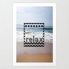 Relax Polaroid  Art Print