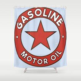 Gasoline Motor oil Shower Curtain