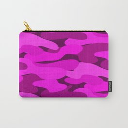 Outrageous Neon Hot Pink Camo Pattern Carry-All Pouch