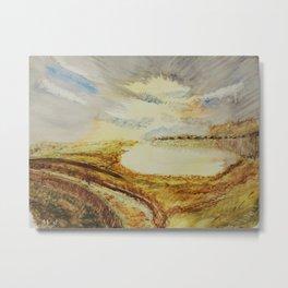 Trail on the lake Metal Print
