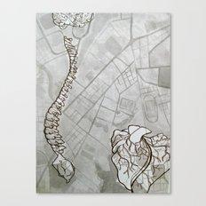 Body Map Canvas Print