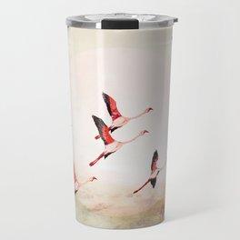 Flock of Flamingos Travel Mug