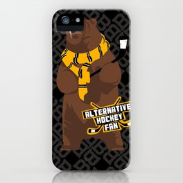 Alternative Hockey Fan - Boston iPhone Case