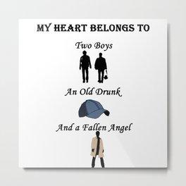 My Heart Belongs to Supernatural Metal Print