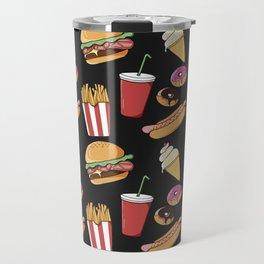 Fast-food (black) Travel Mug