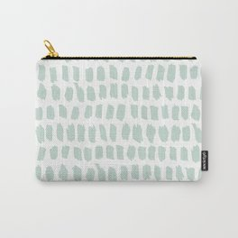 Minty strokes and abstract pastel stripes pattern design Carry-All Pouch