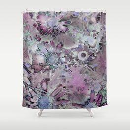 Amazing Metal Flowers Shower Curtain