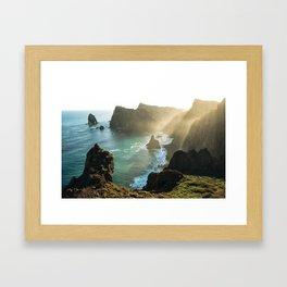 Ponta do Rosto, Madeira Framed Art Print