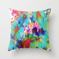oriental Throw Pillows featuring Oriental Happiness by Aloke Design