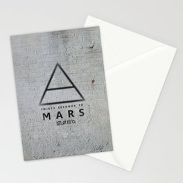 30 Seconds to Mars - stencil on brick wall Stationery Cards