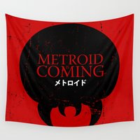 metroid Wall Tapestries featuring House Metroid by Alecxps