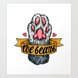Toe Beans Art Print