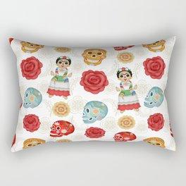 Dia de los muertos pattern 1 Rectangular Pillow