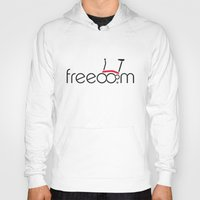 brompton Hoodies featuring Brompton Freedom by Abraham Wish