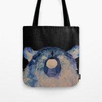 fnaf Tote Bags featuring Geo Bear by Boergers