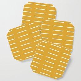 organic / yellow Coaster