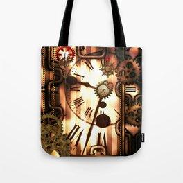 Steampunk, clocks and gears, vintage design Tote Bag